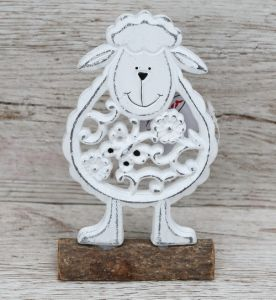 sheep standing decoration (17cm)