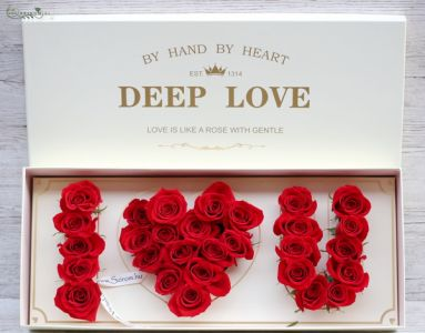 I love you box with 29 roses