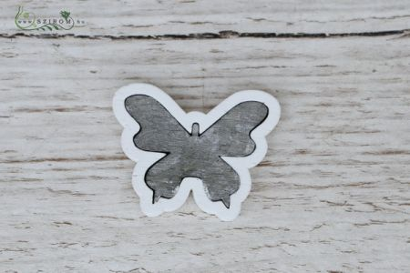Gray wooden butterfly