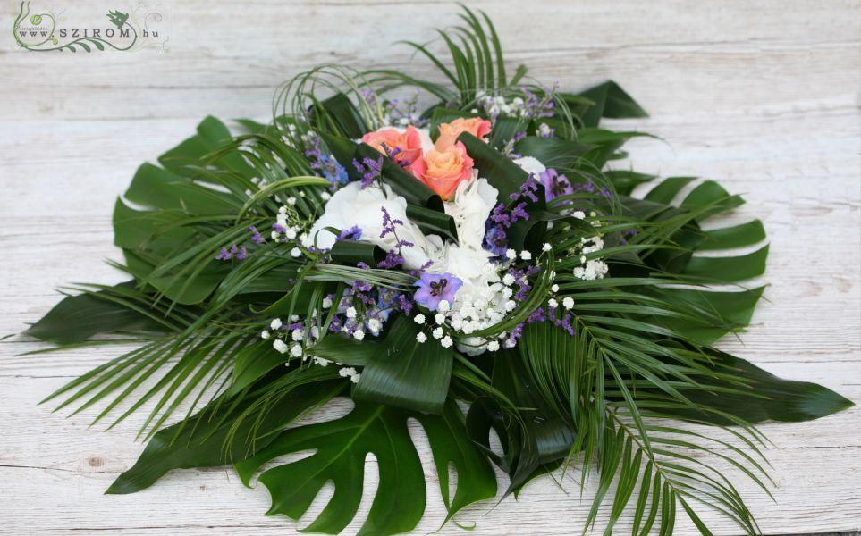Szirom petal wedding florist budapest bridal bouquets wedding car flower hydrangea rose limonium white orange lisianthus id 10188 junglespirit Image collections