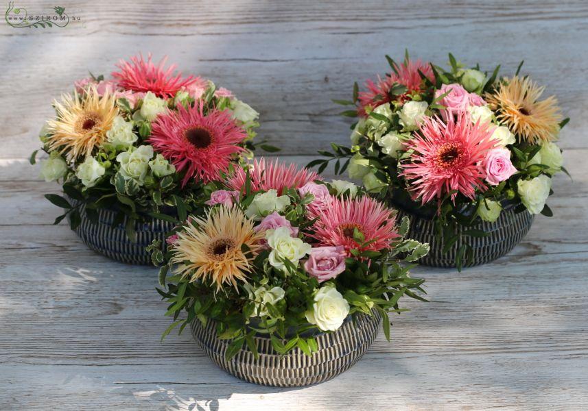 Szirom petal wedding florist budapest bridal bouquets wedding wedding centerpiece gerbera spray rose pink peach id 10720 junglespirit Image collections
