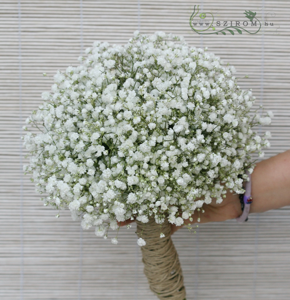 bridal bouquet (baby's beath, white)