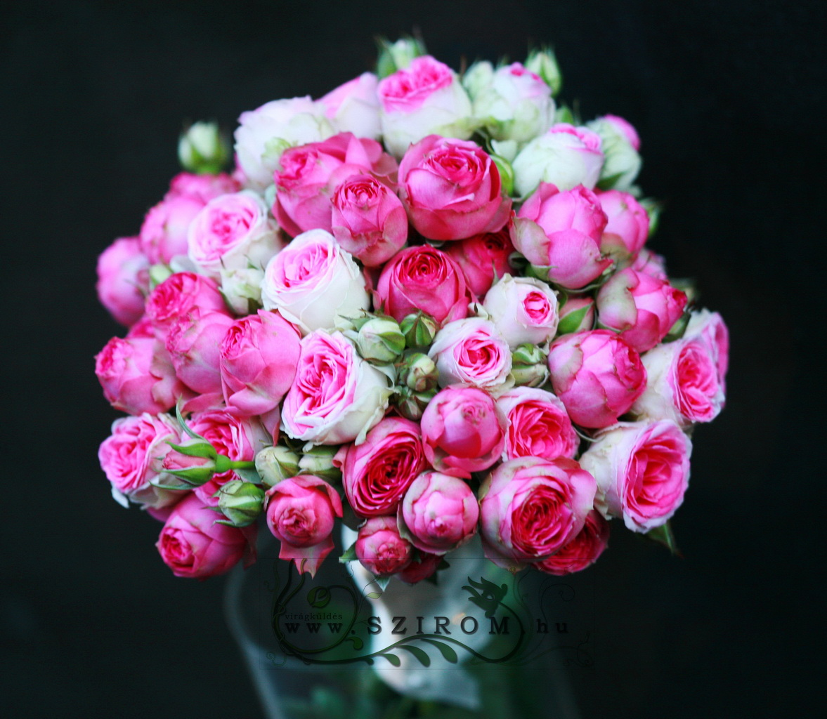 bridal bouquet (english rose, pink)
