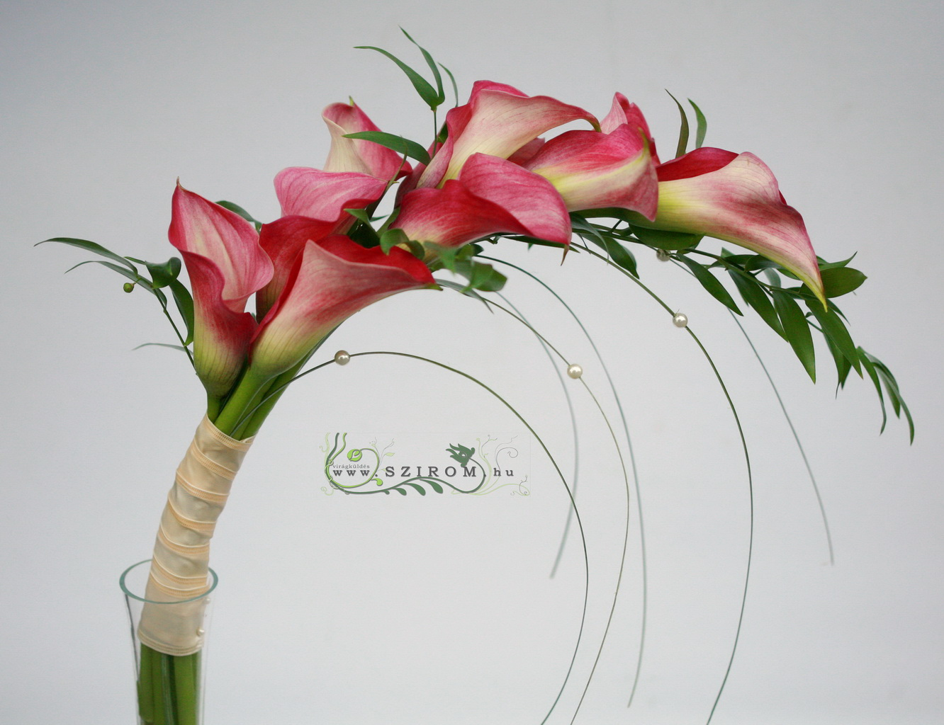 bridal bouquet (calla, pink)