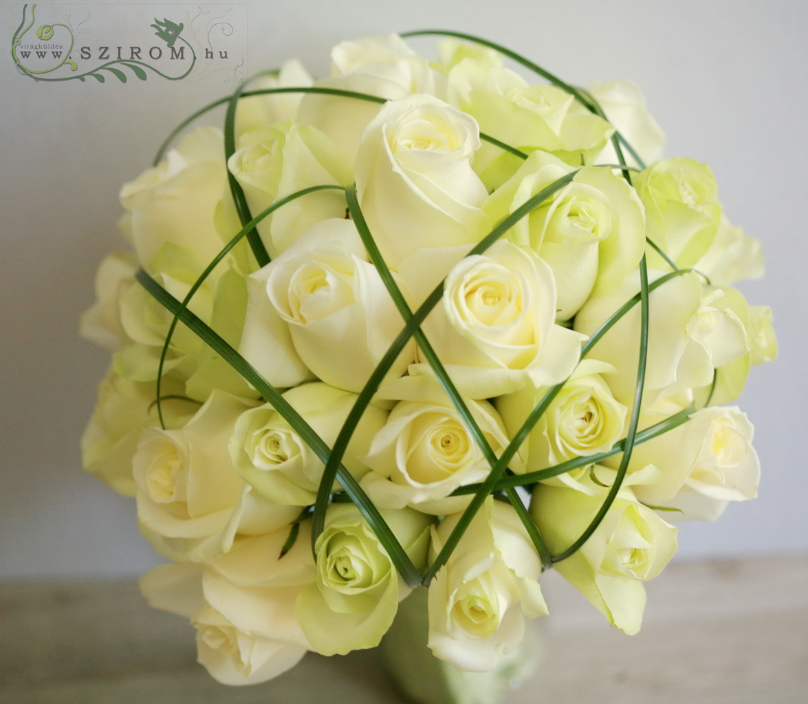 bridal bouquet (rose, white)